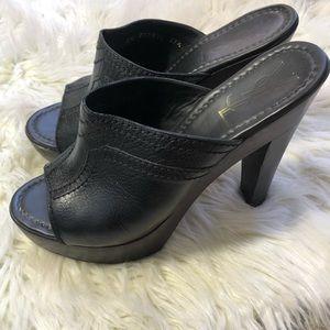 YSL Black Essaouira Clog Heels